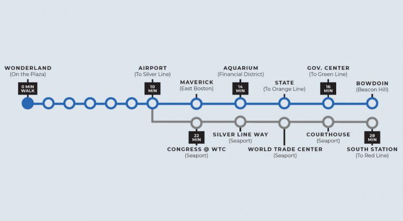 500 Ocean Transit Map
